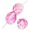 Fire polished 8mm Crystal/rose/fuchsia Two-tone Aurora Borealis